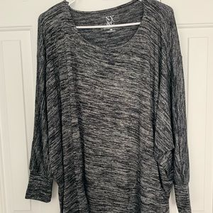 NEW YORK AND COMPANY OVERSIZED COMFY GRAY TOP